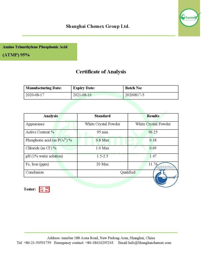 COA of ATMP 95