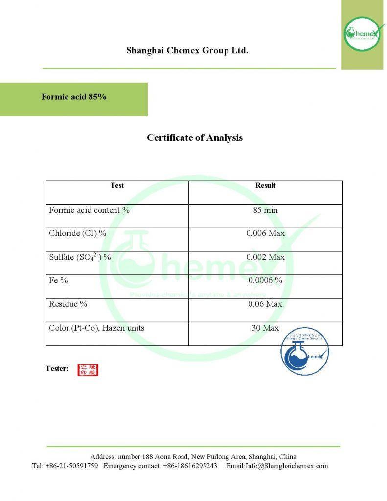 Analysis of formic acid