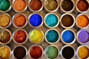 Application of sodium dichromate to produce mineral pigments