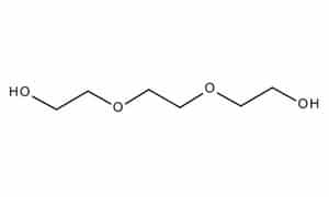 chemical structure of triethylene glycol (TEG)