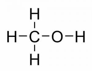 chemical structure of methanol