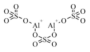chemical structure of Aluminum sulfate