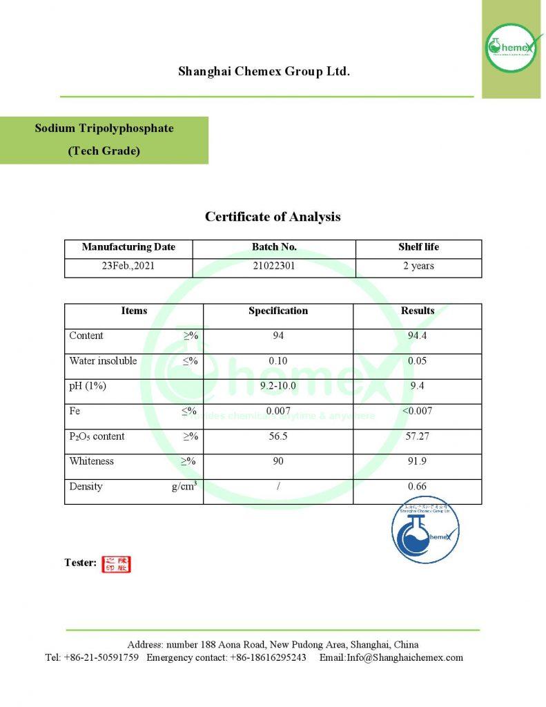 analysis of Sodium Tripolyphosphate