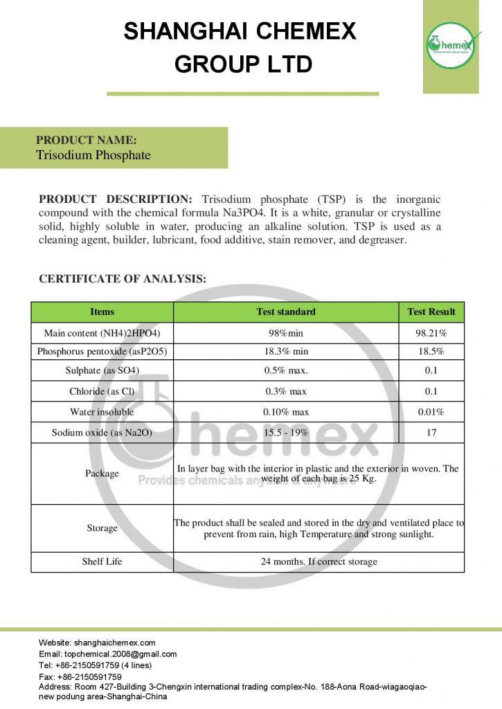 analysis of trisodium phosphate