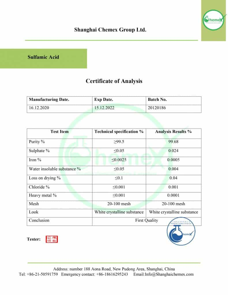 sulfamic acid coa
