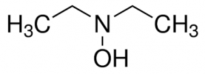 Chemical structure of Diethyl hydroxylamine (DEHA)