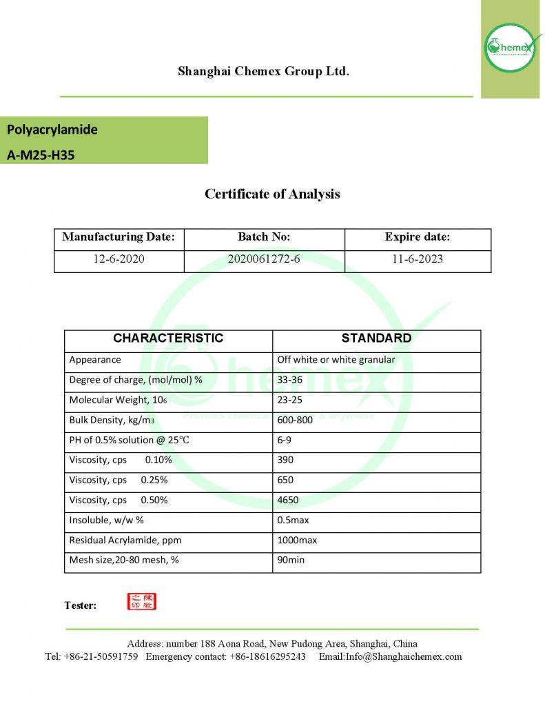 analysis of polyacrylamide