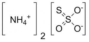 chemical structure of ammonium thiosulfate