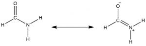 The resonance structures dimethylformamide