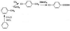 production of 4-chlorobenzoic acid