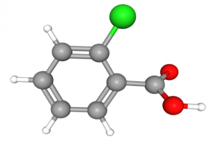 Chemical Structure Model of 2-chlorobenzoic acid