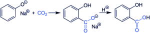 synthesis and production process of salicylic acid