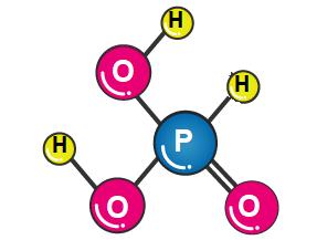 Chemical Structure Depiction of Phosphorous Acid
